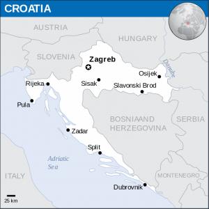 Karta Hrvatske sa najvećim gradovima